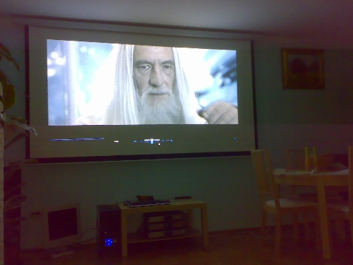 Projector from sofa
